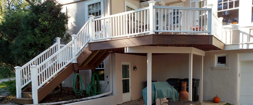 Second story deck and staircase