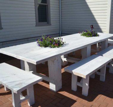 Backyard family table