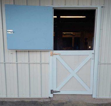 Exterior barn door