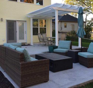 Pergola addition to outdoor patio