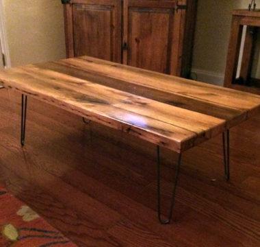 Hair pin leg coffee table