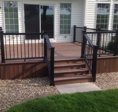 Composite deck from back door